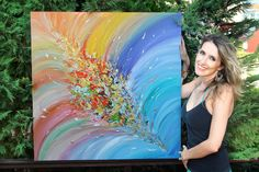 #Original #Contemporary #Colorful #Abstract #Painting #Rainbow #Floral #Abstract #Art #Surreal #Abstraction #Modern #Painting #Multicolored #PaletteKnife #RichTexture #Zen #ReadytoHang #Canvas #Art ''Whimsical Energy'', Painting by #JuliaApostolova | #Artfinder