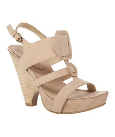 Loving this Maxstudio.com Beige Nadia Leather Sandal on #zulily! #zulilyfinds