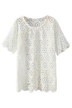 Scalloped Lace Shirt