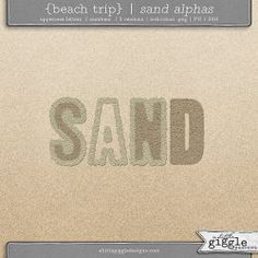 {Beach Trip} Sand Alphas | A Little Giggle Designs