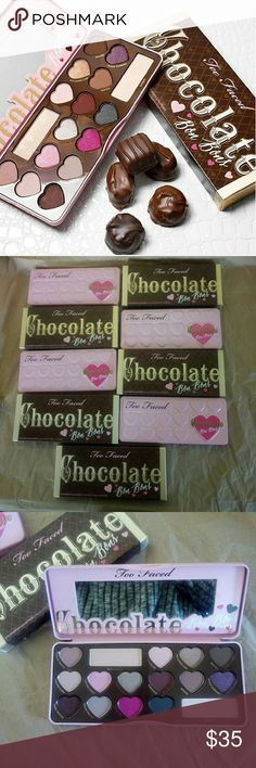 🎄🎁Too Faced Chocolate Bon Bon Palette Too Faced Chocolate Bon Bon Palette   Chocolate Bon Bon eyeshadow palette is way too sweet to pass up!    1000% authentic  Serial code #:   check last image please)   ? I'M NOT RESPONSIBLE FOR BROKEN ITEM. I PROTECT VERY WELL EVERYTHING AND ADD FRAGILE STICKER AND TAPE TO REMIND USPS TO HANDLE WITH CARE ?   ?NO FREE SHIPPING? ?NO TRADES?NO LOW BALLING? ?NO RUDE OR UNNECESSARY COMMENTS? ?PRICE FIRM? Too Faced Makeup Eyeshadow