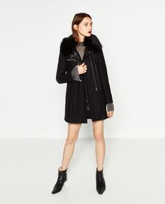 COAT WITH ZIPS-View all-OUTERWEAR-WOMAN   ZARA United States