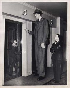 Robert Wadlow was the tallest man in the world, 8 feet 11 inches
