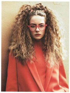 crimped hairstyle гофре