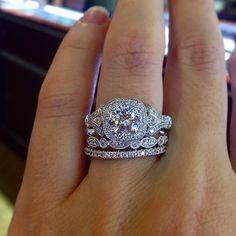 Love love love this @gabrielandco stack White Roses, Wedding Anniversary, Diamond Engagement Rings, 18k Gold, Heart Ring, White Gold, Diamonds, Marriage Anniversary, Diamond
