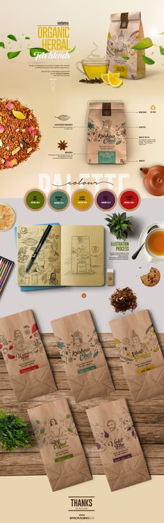 Design of packaging for a brand of organic teas inspired by different pleasure and wellness experiences.Selected tea combinations represented by our spiritual teachers.Lets know the process