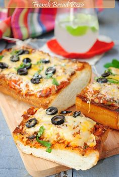 KEEPER  French bread pizza - Used Italian bread-fast and easy.