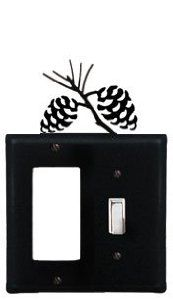 Pinecone - Single GFI and Switch Cover by Village Wrought Iron. $14.21. Pinecone - Single GFI and Switch CoverApprox. 4 5/8 In. W x 8 In. H Please allow 4 to 6 weeks for delivery.
