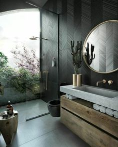 Modern bathroom design 687573068097027782 - Gallery of ODD Architects Creates Sunflower-Inspired Residential Tower for Ecuador – 4 Source by laneaevalovephoto Dark Bathrooms, Dream Bathrooms, Amazing Bathrooms, Master Bathrooms, Luxurious Bathrooms, Marble Bathrooms, Bathroom Design Luxury, Home Interior Design, Interior Decorating