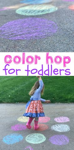 Color Hop for Toddlers – I Can Teach My Child! Today is the first day of our 31 Days of Outdoor Toddler Activities series! Just this morning I wasn't sure this series was going to happen…I got Color Activities For Toddlers, Outside Activities For Kids, Outdoor Activities For Toddlers, Activities For 1 Year Olds, Toddler Learning Activities, Fun Activities, Childcare Activities, Toddler Outdoor Games, Toddler Games