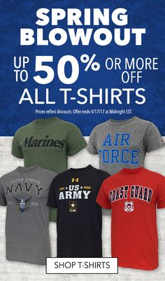 Spring T-Shirt Blowout! Up to 50% off all t-shirts.  Ends Monday.