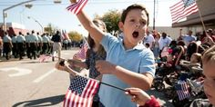 Alex Delavega, cheers at the Veterans Day parade in downtown Killeen, Texas, on Wednesday Nov. less than a week after the shootings in nearby Fort Hood. Photo by Jay Janner/Austin American-Statesman Veterans Day Images, Killeen Texas, Fort Hood, God Bless America, Color Photography, Simple Pleasures, American, Celebrities, Flags