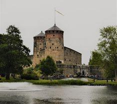 Olavinlinna castle on a rainy day