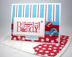 Stampin up birthday card child idea lined envelope demonstrator blog video tutorial