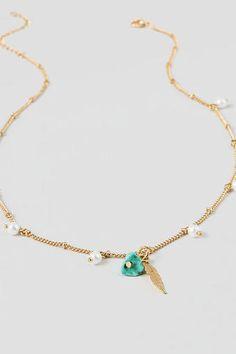 Birch Dainty Feather Necklace