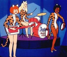 """Josie and The Pussy Cats"" cartoon"