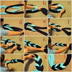 tshirt scarf Really neat... So gonna try this (;