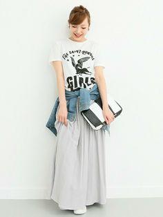 ROSSOグランツリー武蔵小杉店 kawanoさんのスカート「ROSSO リバーシブルマキシスカート(ROSSO ロッソ)」を使ったコーディネート
