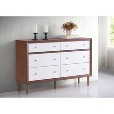 Highlight the handsomely modern feel of your space with the superior storage and Scandinavian style of the Harlow dresser.