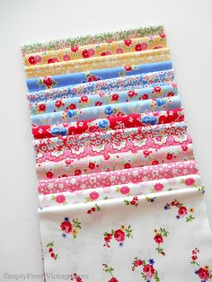 Stairway Makeover Fabrics | 8 Steps to a colorful stairway from SimplyFreshVintage.com