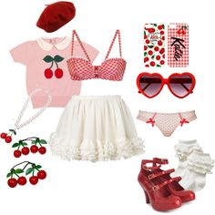 A fashion look from October 2014 featuring Betsey Johnson bikini tops, L& By Agent Provocateur panties and Vivienne Westwood pumps. Browse and shop relate… Harajuku Fashion, Kawaii Fashion, Lolita Fashion, Cute Fashion, Fashion Styles, Ddlg Outfits, Teen Fashion Outfits, Cute Casual Outfits, Girly Outfits