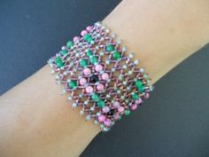 Enhanced Russian Netting style Bracelet
