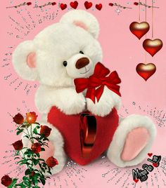 Discover ideas about romantic songs video Beautiful Love Pictures, Love You Images, Beautiful Gif, Beautiful Friend, Teddy Bear Cartoon, Cute Teddy Bears, Bear Valentines, Valentine Day Love, I Love You Husband