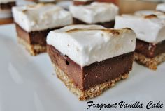 Vegan S'mores Brownies made with aquafaba / chickpea brine / water.