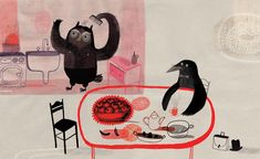 """""""The Crows of Pearblossom"""" by Aldous Huxley, illustrated by Agata Dudek (Dwie Siostry Publisher 2010)"""