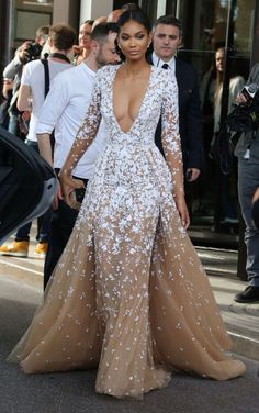 Chanel Iman in a Zuhair Murad Couture ballgown 2015 Evening Dresses, Prom Dresses, Formal Dresses, Wedding Dresses, Formal Prom, Dress Prom, Dresses 2016, Dresses Online, Party Dress