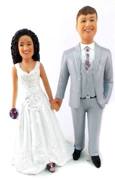 Custom Best Friends Forever Wedding Cake Topper is custom sculpted to look like the bride and groom. Submit your photos and we will hand sculpt your faces and hairstyles. The entire topper is then custom painted to order to look like you! Military Wedding Cakes, Hockey Wedding, Military Cake, Fancy Wedding Cakes, Custom Wedding Cake Toppers, Little Boy Cakes, Lesbian Wedding, Bride Gowns, Wedding Ceremony