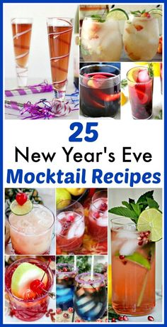 25 Delicious New Year's Eve Mocktail Recipes- Have a fun, family-friendly New Year's Eve party with some of these delicious New Year's Eve mocktail recipes! | homemade drink, New Year's drink, non-alcoholic drink, kid-friendly New Year's Eve