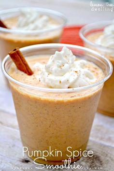 Pumpkin Spice Smoothies - todos los sabores de especias de calabaza que amas, en un batido!