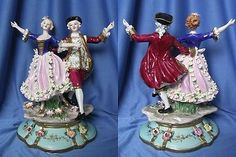 Zauberhafte Figur Tanzpaar, aus Porzellan,Top