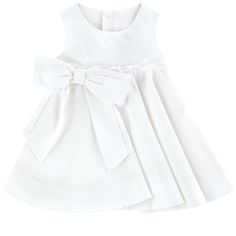 Cotton percaline Dress: Light and flowing Crew neck Sleeveless Pleats under the waistband Very flared bottom Matching bloomers Buttons in the back Lace trims Fancy bow - 90,00 €