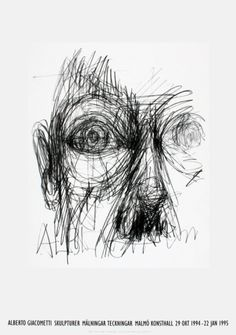 Eyes Limited Edition by Alberto Giacometti Created between 1960-1962 Giacometti uses pencil on paper to create loose, vivid and free marks. A well as depth through the use of continuous line, he often focuses on simply on what the model brings to the portrait rather than on emotion and expression. He has influenced many designers such as Henry Moore and his surrealism during the 1930s.