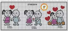 Namorado Perler Beads, Wedding Couples, Cross Stitch Patterns, Art Gallery, Projects To Try, Romance, Crochet, Hearts, Embroidery