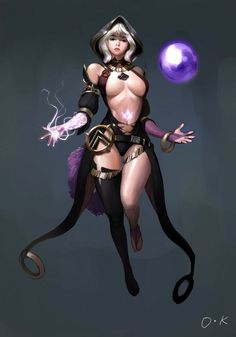 HAN SAKWANG illustration, character, art, digital, design, woman, magic, fantasy