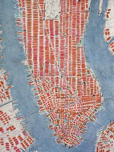 Orange Manhattan - oil on handmade cotton rag paper 110 x 150 cm by Barbara Macfarlane