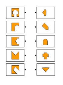 Printable brain teaser worksheets for kids in preschool, kindergarten, grade make square shapes by adding each shape on the left to a shape on the right. Test For Kids, Math For Kids, Puzzles For Kids, Education Positive, Kids Education, Special Education, Shapes Worksheets, Worksheets For Kids, Infant Activities
