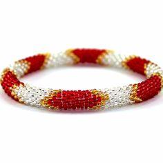 Handmade Nepal Roll On Glass Bead Bracelet - Carmen