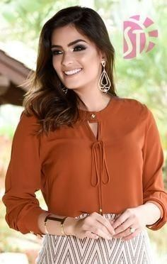 Visit our online store to get more Blouse ideas for you. Kurti Neck Designs, Blouse Designs, Dressy Tops, Mode Inspiration, Classy Outfits, Shirt Blouses, Chiffon Tops, Blouses For Women, Fashion Dresses