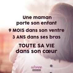 Citation maman - aufeminin maman Mom Quotes, Words Quotes, Plus Belle Citation, Quote Citation, Anti Stress, Positive Attitude, Parenting Books, Peace And Love, Poems