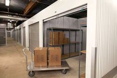 Use carts to get your stuff in and out of your self storage unit easily.