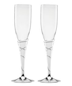 Another great find on #zulily! Adorn Metal Champagne Flute - Set of Two #zulilyfinds