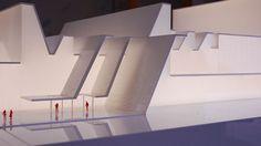 Palacio Congresos ,Exposición Universal.Maqueta iluminada.Arquitectura.Oceanonaranja.