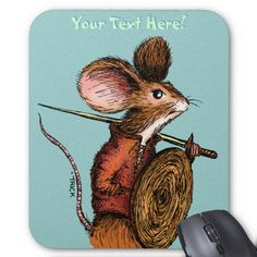 Warrior Mouse (mousepad). Artwork by 'Trick!  TricksPlace.com www.zazzle.com/tricksplace* #mouse