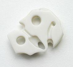 White Ghost by Warwick Freeman, 2004, corian ®, 63 x 50mm.