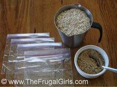 homemade individual oatmeal packets