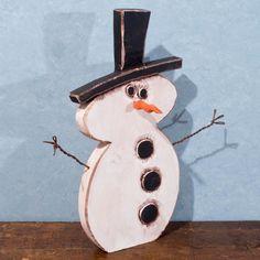 Little Buddy 5 Wood Snowman by stevenssigns on Etsy